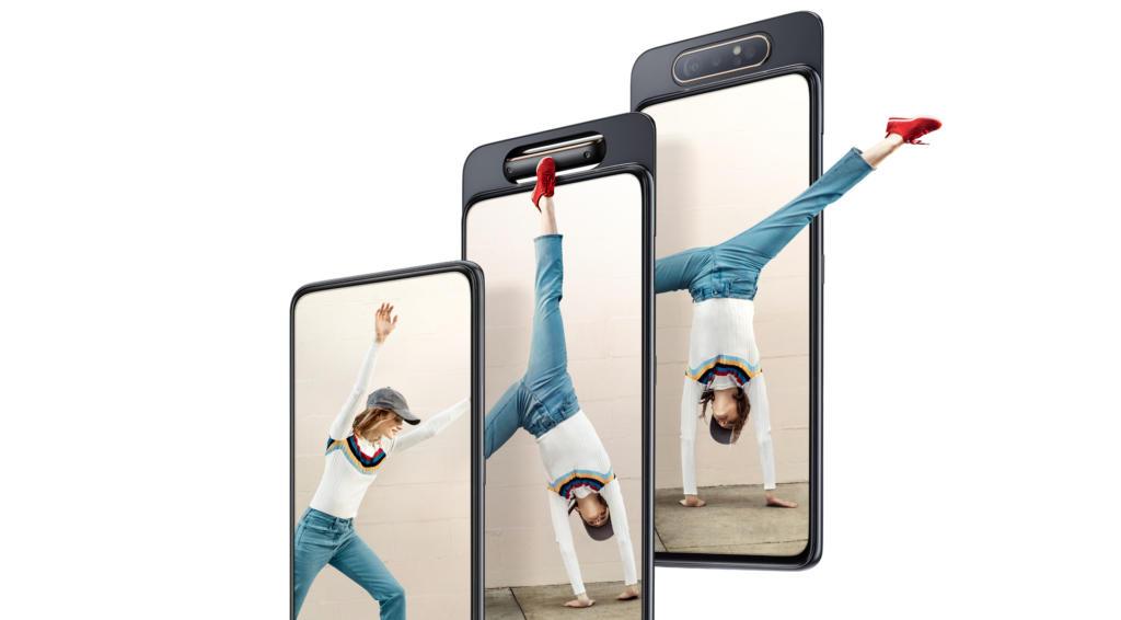 Samsung presenta el Galaxy A80, el primer smartphone con cámara reversible