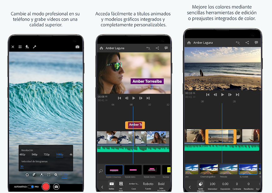 Adobe lleva su app de edición de vídeo Premiere Rush CC a Android