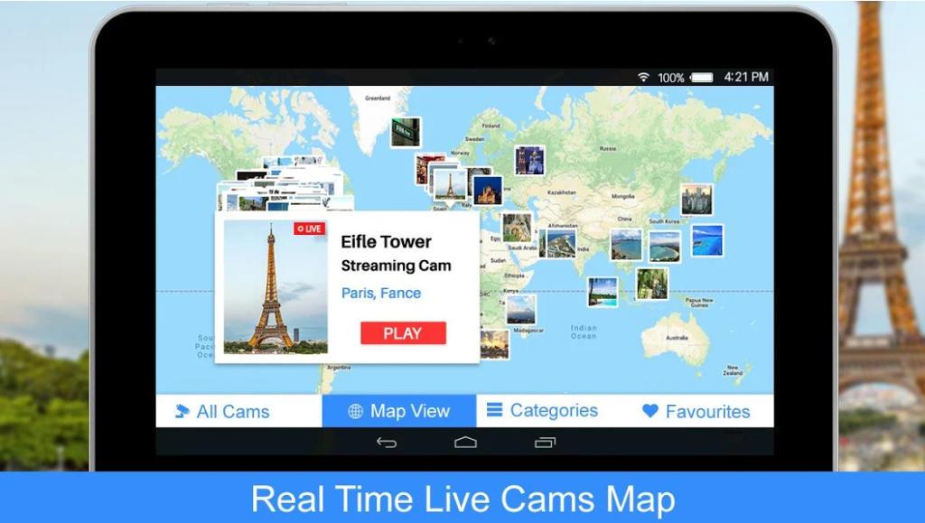 Con Live Cams accede a cámaras en directo de todo el mundo
