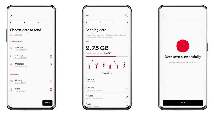OnePlus lanza OnePlus Switch, una app para recuperar el contenido de tu antiguo móvil