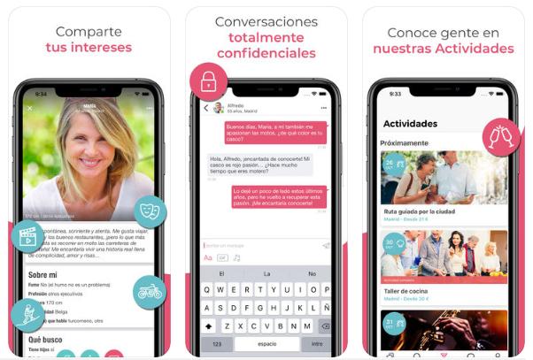 Así es Ourtime, la app de dating para cincuentones que triunfa en España