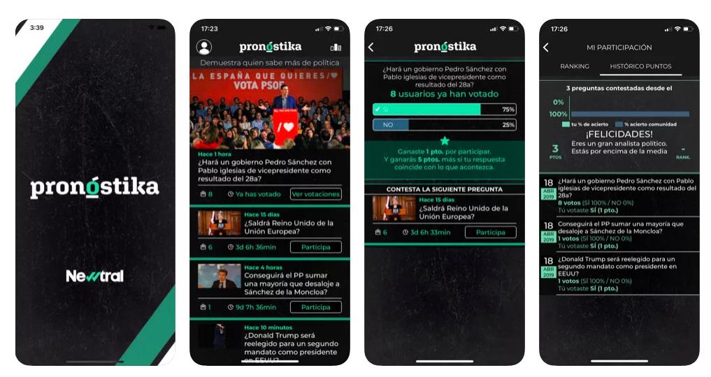 Prueba suerte como analista político con Pronóstika, la nueva app de Newtral