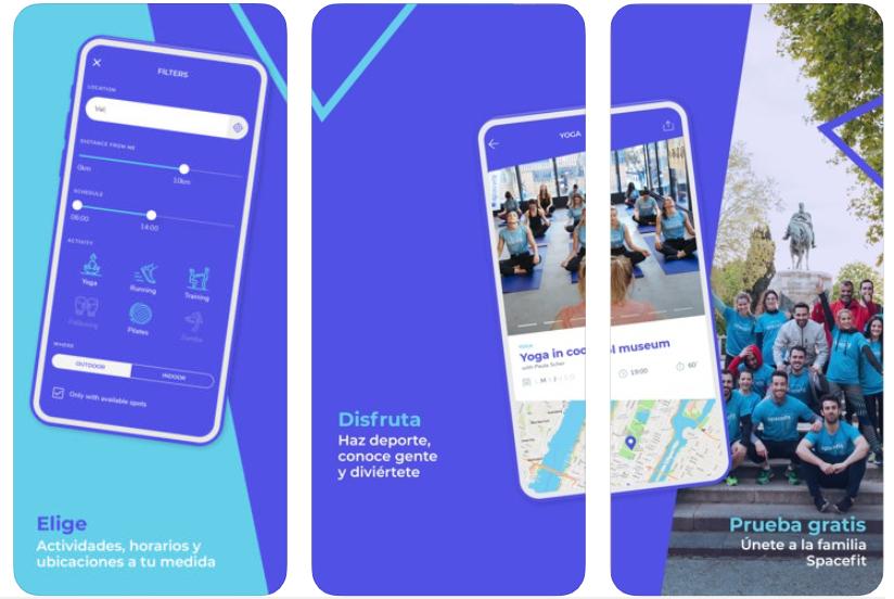SpaceFit, la app que te permite hacer ejercicio y recibir clases en lugares únicos