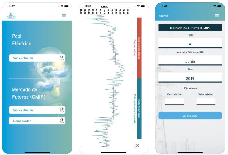 Tempos Energía crea una app para consultar las cotizaciones del mercado energético