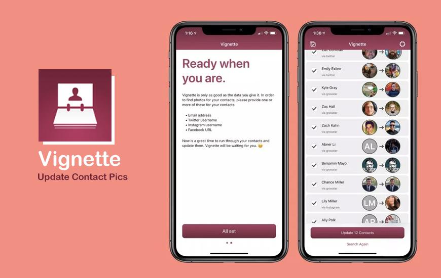 Con Vignette puedes personalizar las fotos de tus contactos de iOS