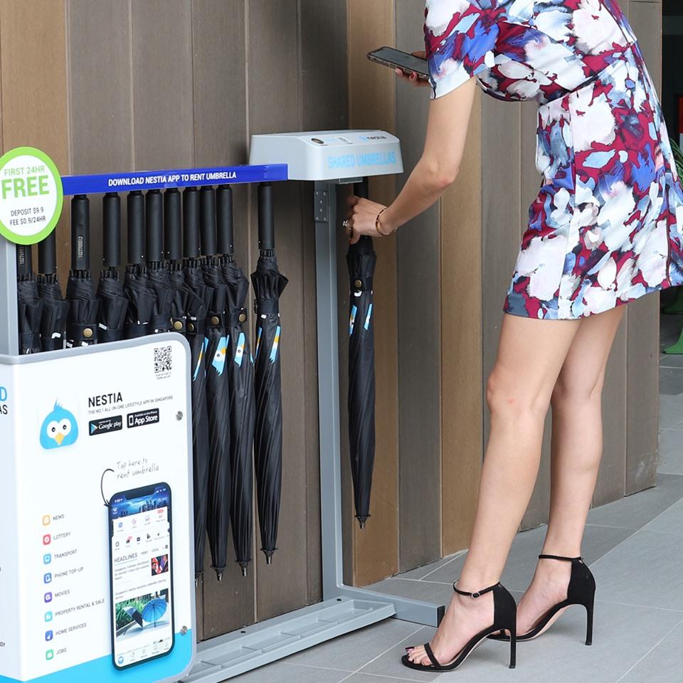 ¿Sabías que en Singapur existe una app para alquilar paraguas?