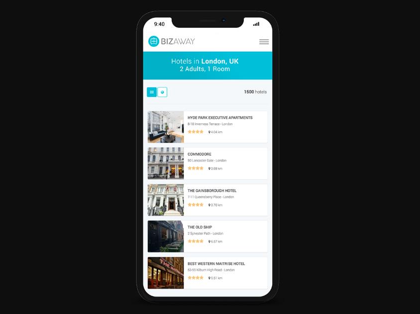 BizAway, la plataforma para gestionar tus viajes de empresa