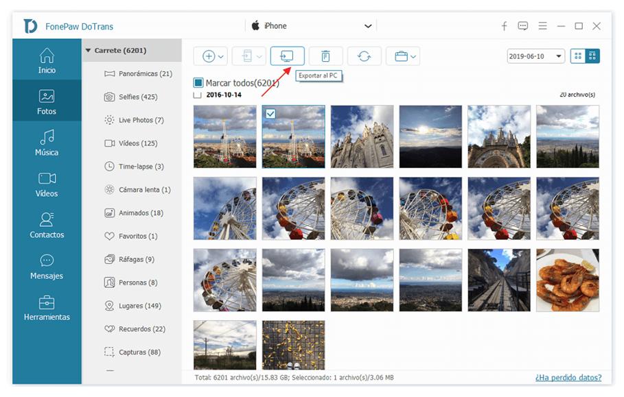 Transfiere los archivos de iPhone a Android fácilmente con DoTrans