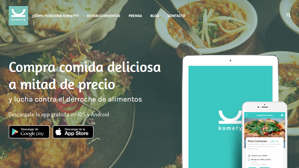 """Komefy: """"No publicamos ofertas genéricas, sino platos y productos concretos"""""""