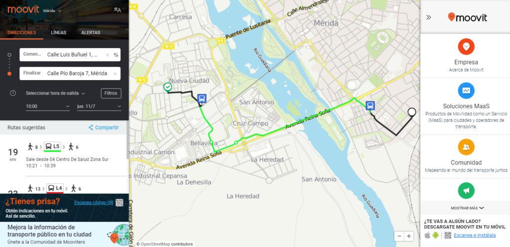 """Moovit: """"Google Maps no muestra información de transportes en ciudades pequeñas"""""""