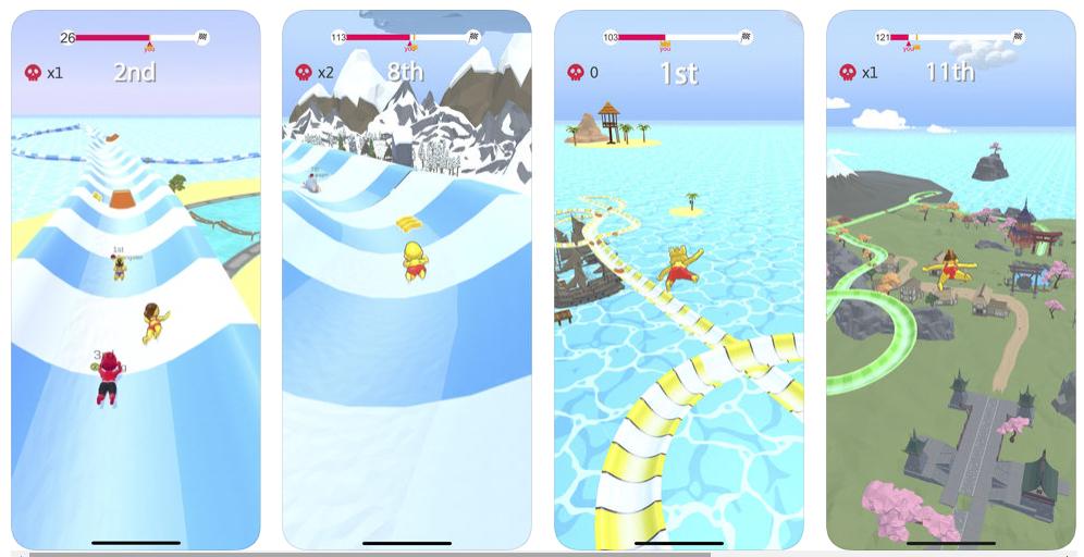 Aquapark.io, un tobogán acuático infinito en tu móvil