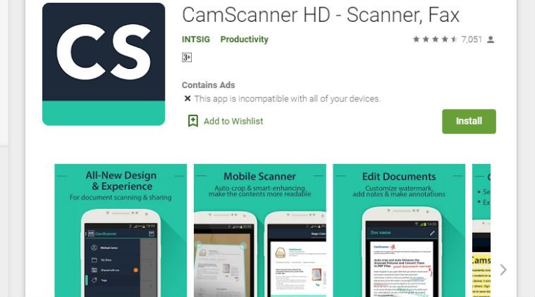 CamScanner es retirada de Google Play por contener malware