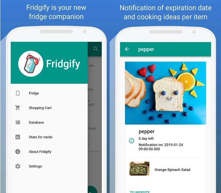 Fridgify, la app que te permite controlar lo que tienes en la nevera