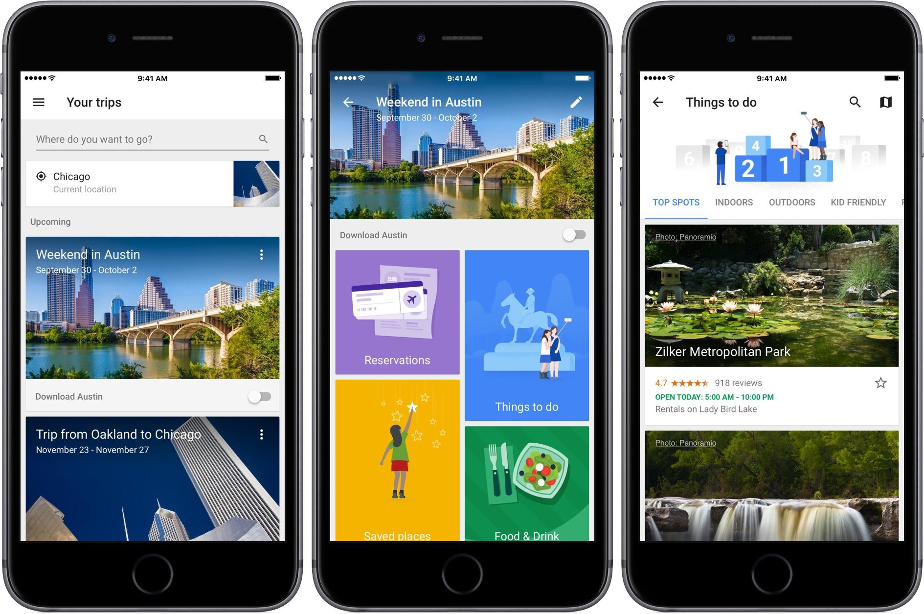 Google anuncia el cierre de Trips, su app para planificar viajes