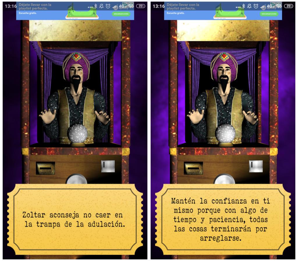 Zoltar El Vidente 3D predice tu futuro y te da consejos en tu móvil