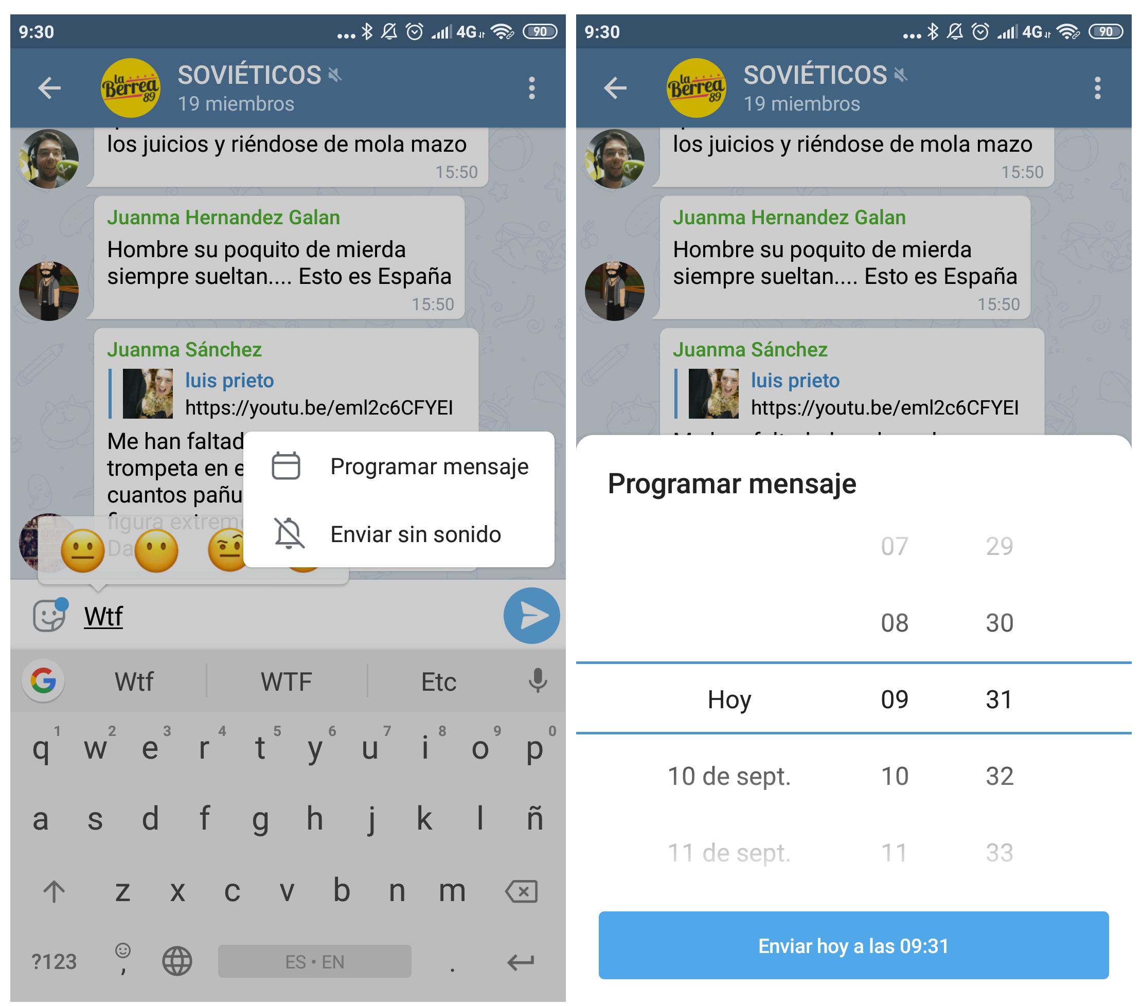 Así puedes programar mensajes en Telegram