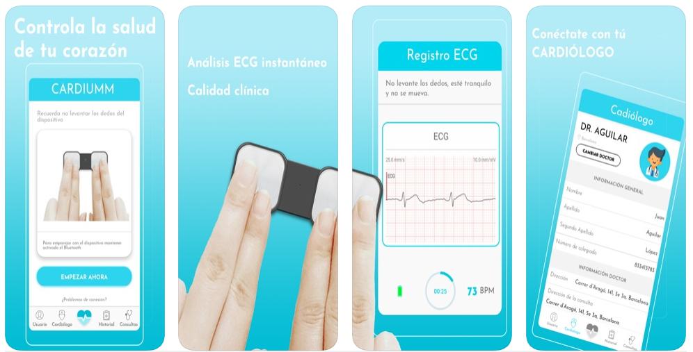 Cardiumm, una app para cardiólogos y sus pacientes