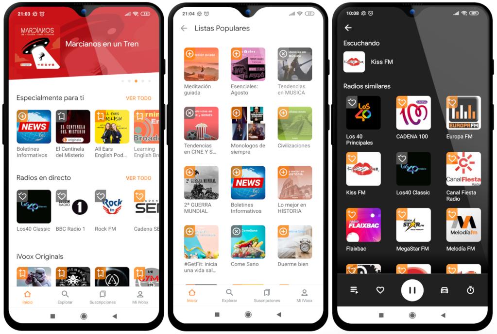 iVoox renueva su app para Android