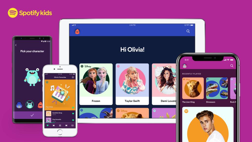 Nace Spotify Kids, una app para que los niños puedan escuchar música adecuada a su edad