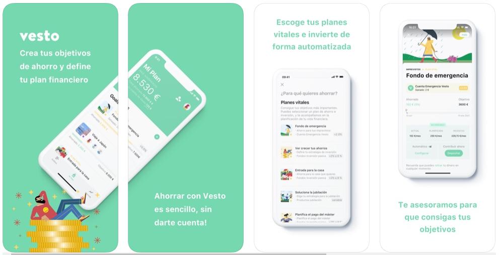 Nace Vesto, una app para alcanzar tus objetivos de ahorro