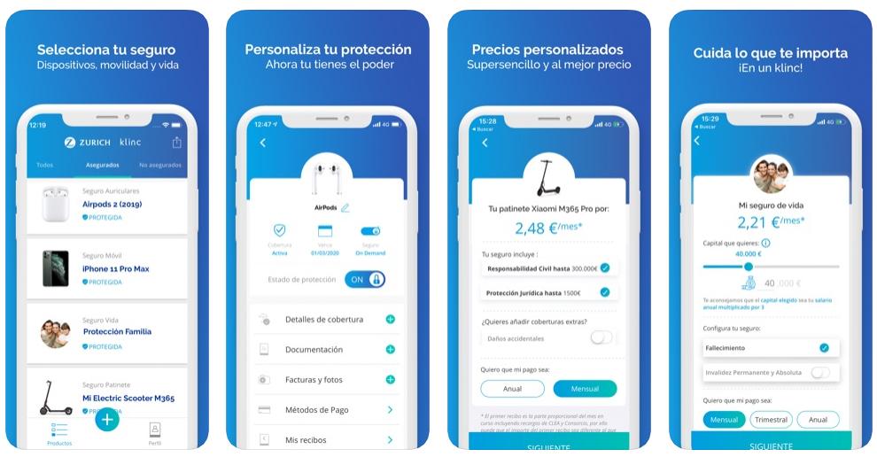 Klinc, la app de Zurich que te permite asegurar tus dispositivos, ya no es solo para millennials