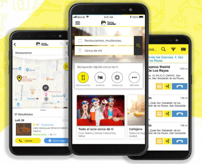 Busca y encuentra empresas con la app de Páginas Amarillas