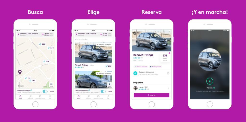Getaround, la app que te permite alquilar un coche por horas o por días