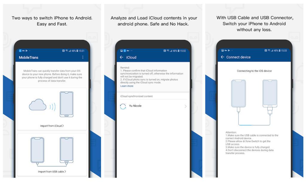 MobileTrans, la app que te permite pasar tus datos fácilmente de iOS a Android