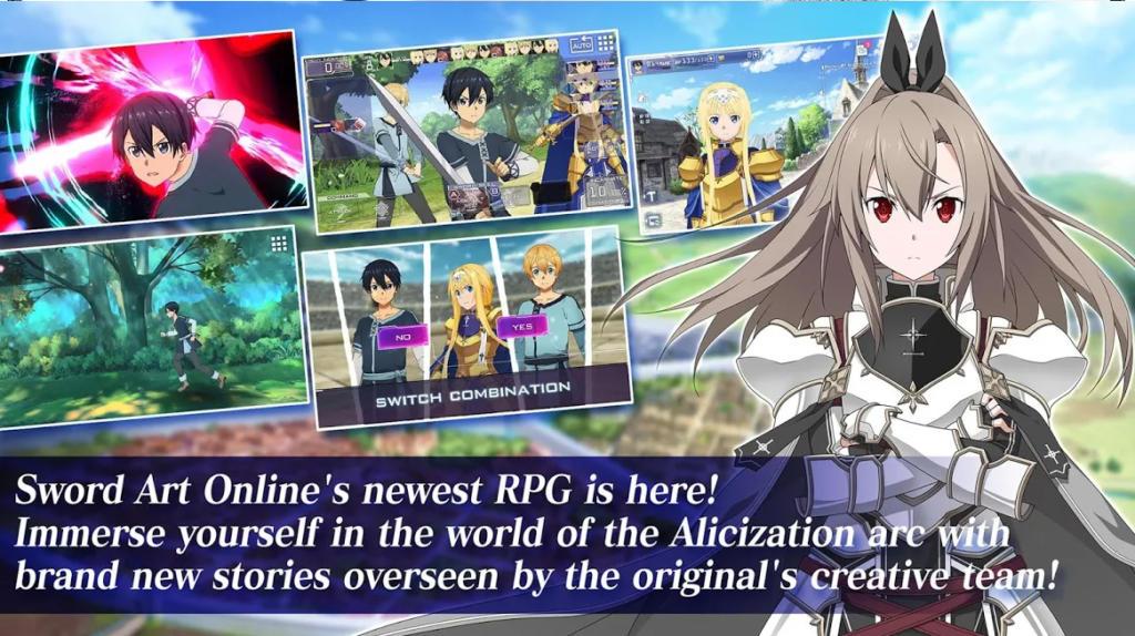 Sword Art Online ya tiene nuevo juego móvil para iOS y Android