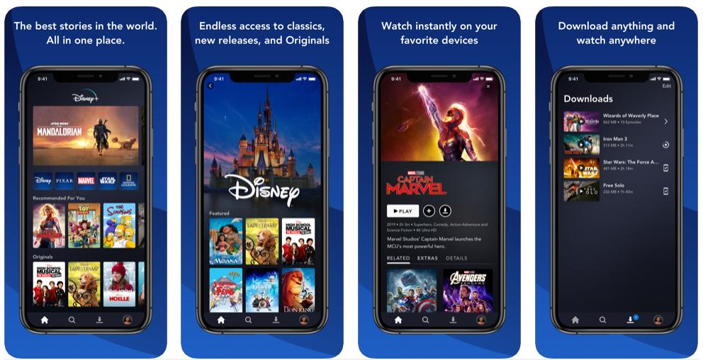 La app de Disney+ registra 4 millones de suscriptores en su primer mes