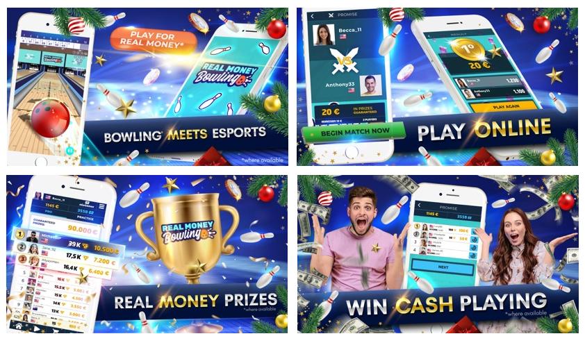Real Money Bowling, el juego móvil que convierte los bolos en eSports
