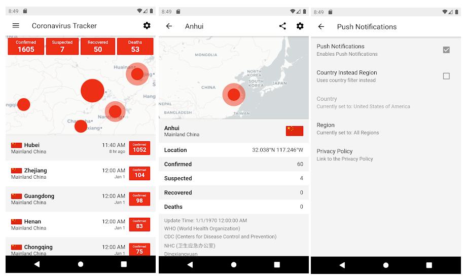 Coronavirus Tracker, la app para seguir el número de infectados y fallecidos en todo el mundo