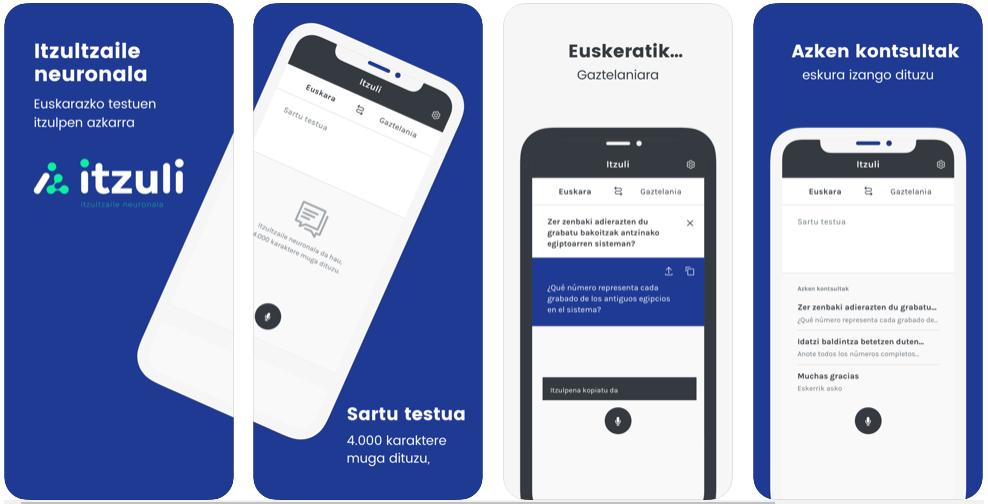 Itzuli, la app para traducir del castellano al euskera y viceversa que triunfa en los markets