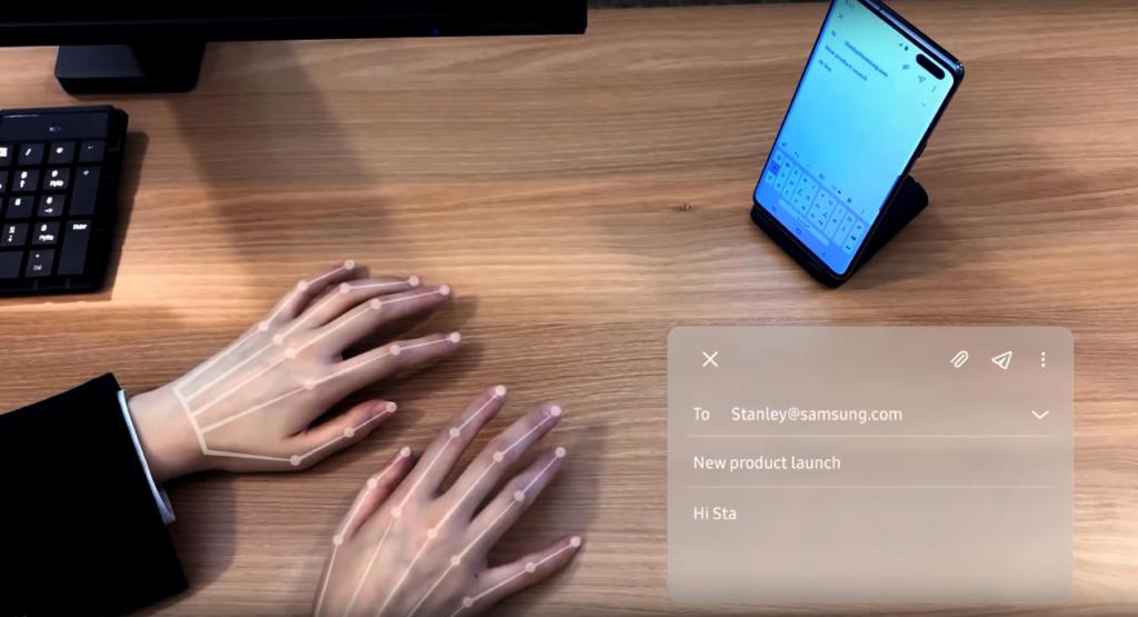 Samsung ha creado SelfieType, un teclado invisible para smartphones que te permite escribir sin tocar la pantalla