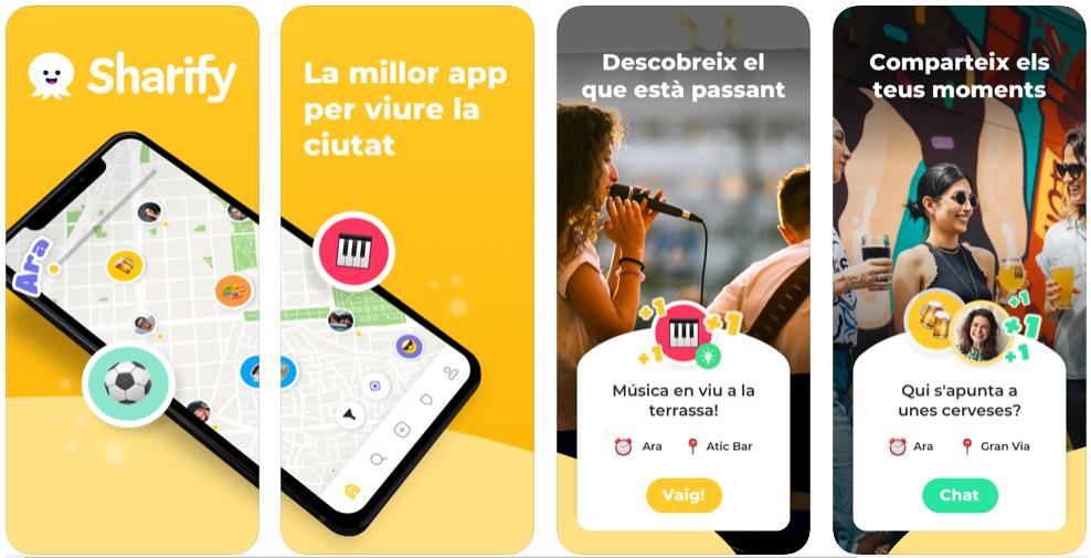 Sharify, la app para saber qué pasa en tu ciudad y dónde