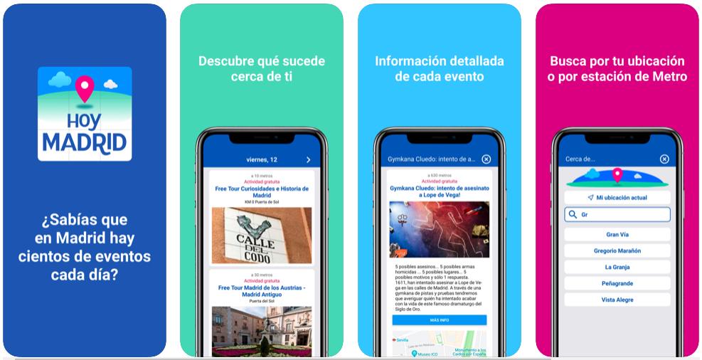 Hoy Madrid te permite saber qué actividades hay a tu alrededor si vives en la capital