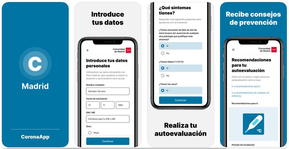 La app AsistenciaCovid19 se renombra como Coronamadrid