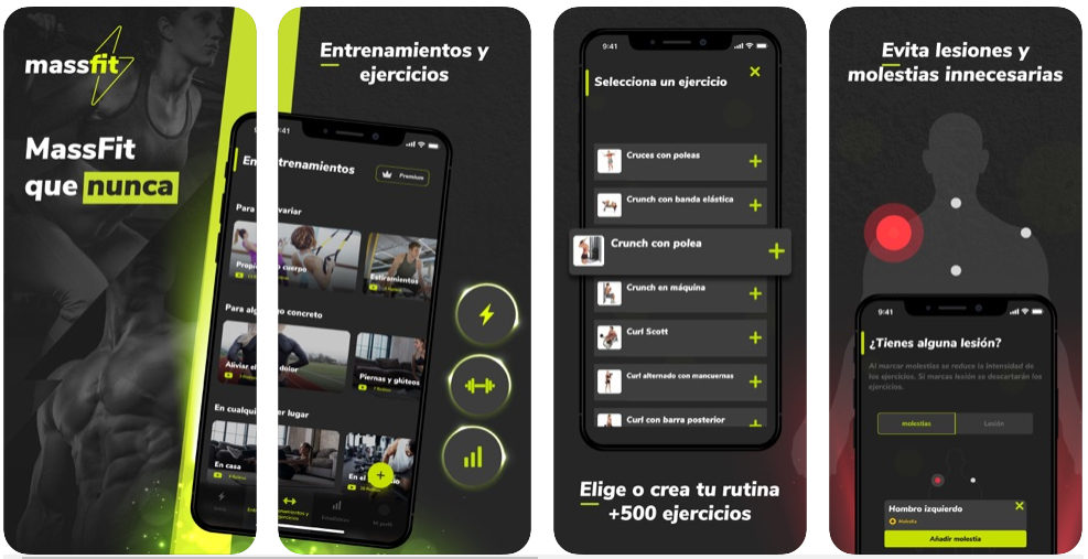 Massfit, la app que te propone ejercicios y rutinas y sabe si estás lesionado