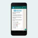 Ya puedes hablar con la OMS a través de WhatsApp para resolver tus dudas sobre el coronavirus