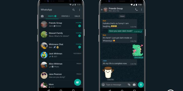 El modo Oscuro de WhatsApp, ya disponible para Android e iPhone