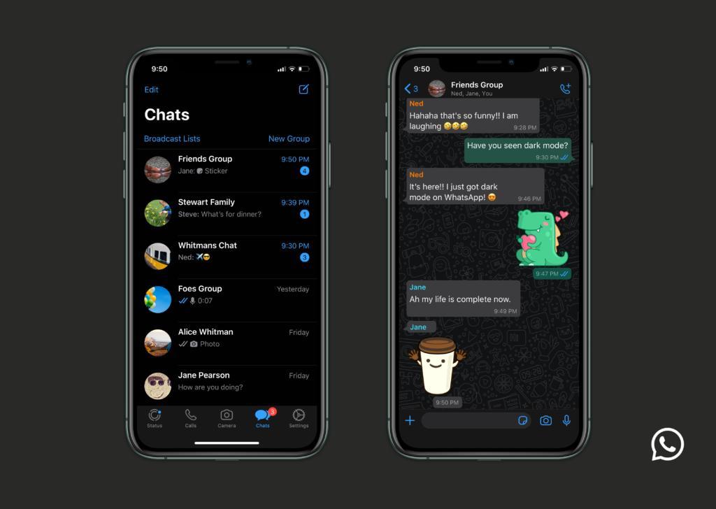 El modo Oscuro de WhatsApp, ya disponible para Android e iPhone