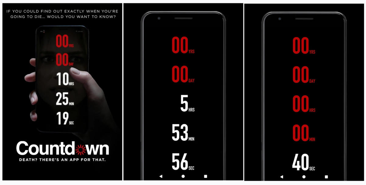 Countdown La App Que Te Dice Cuanto Te Queda De Vida Como En La Pelicula Applicantes Informacion Sobre Apps Y Juegos Para Moviles