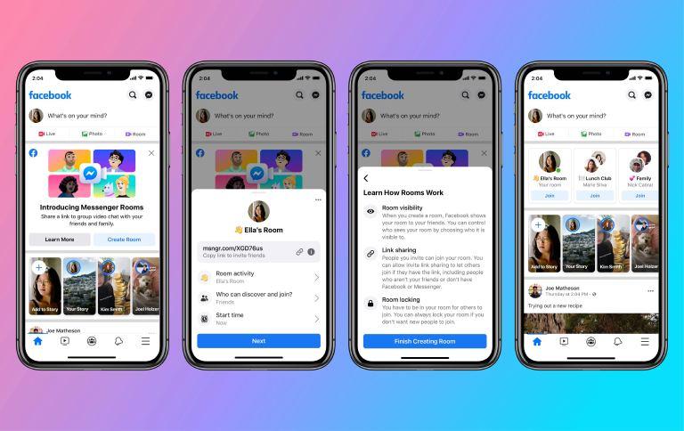 Facebook presenta Messenger Rooms, una herramienta para hacer videollamadas grupales