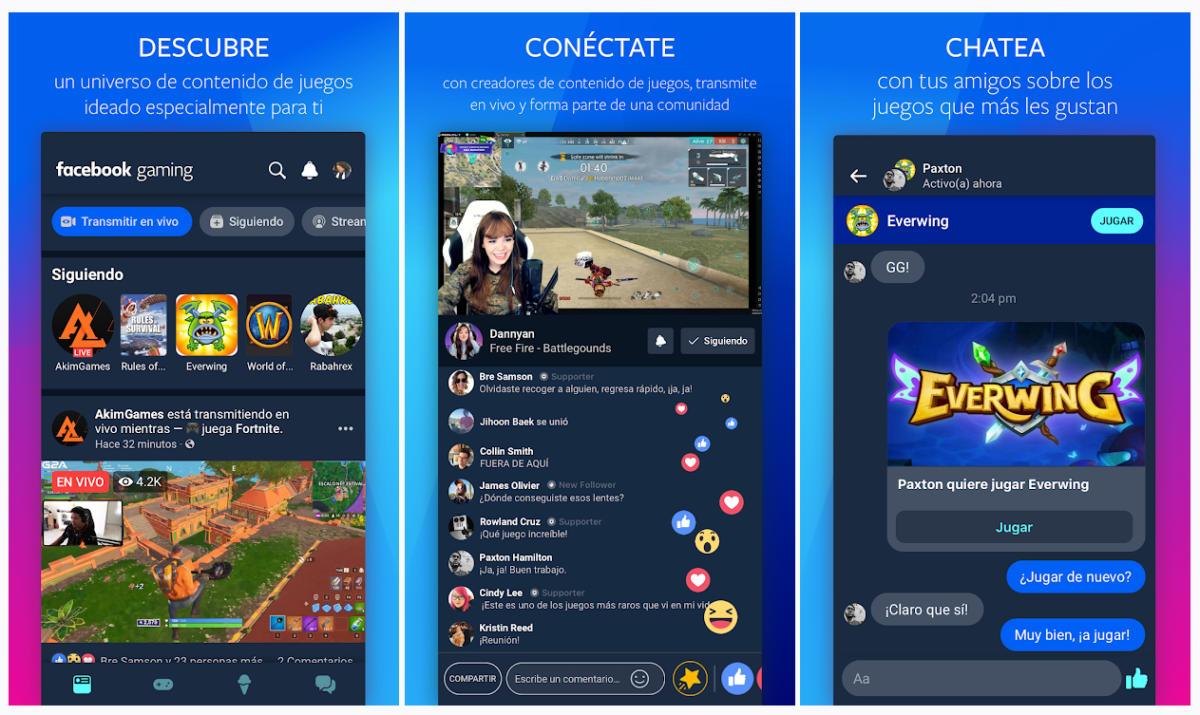 Facebook Gaming, la nueva app para competir con Twitch, ya disponible para Android