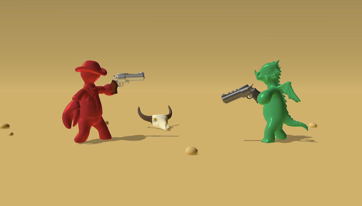Gumslinger, el divertido juego de duelos entre muñecos de gominola