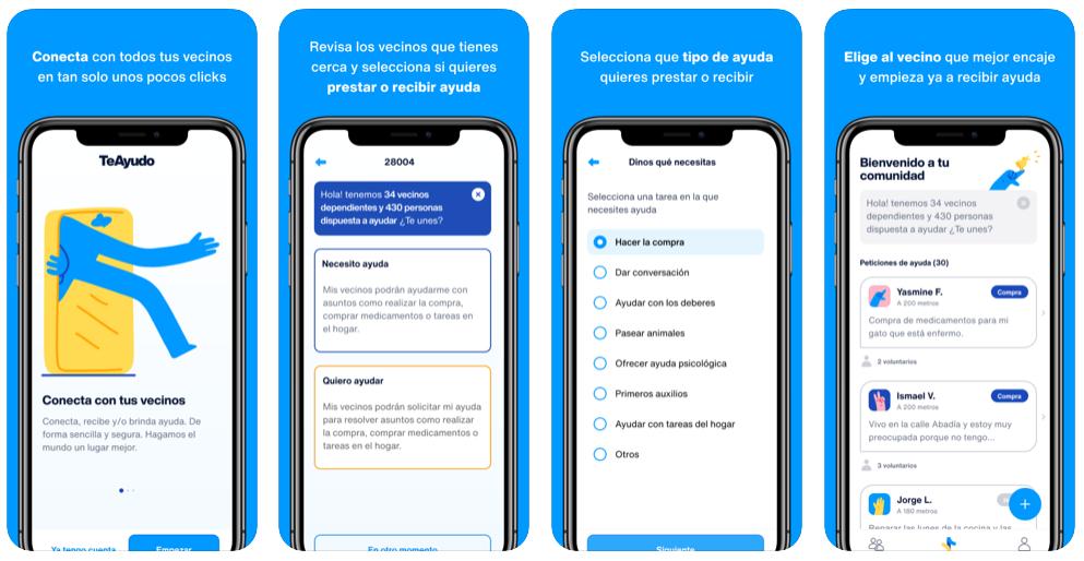Nace TeAyudo, una app para echarse una mano entre vecinos