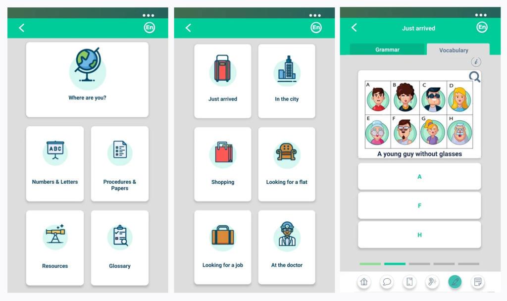 Nace 7Ling, una app de idiomas multilingüe para migrantes y refugiados