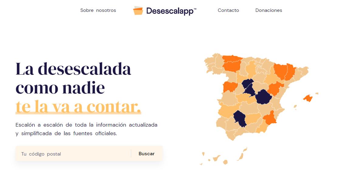 Desescalapp, la aplicación para saber en qué fase estás y qué puedes hacer según tu código postal