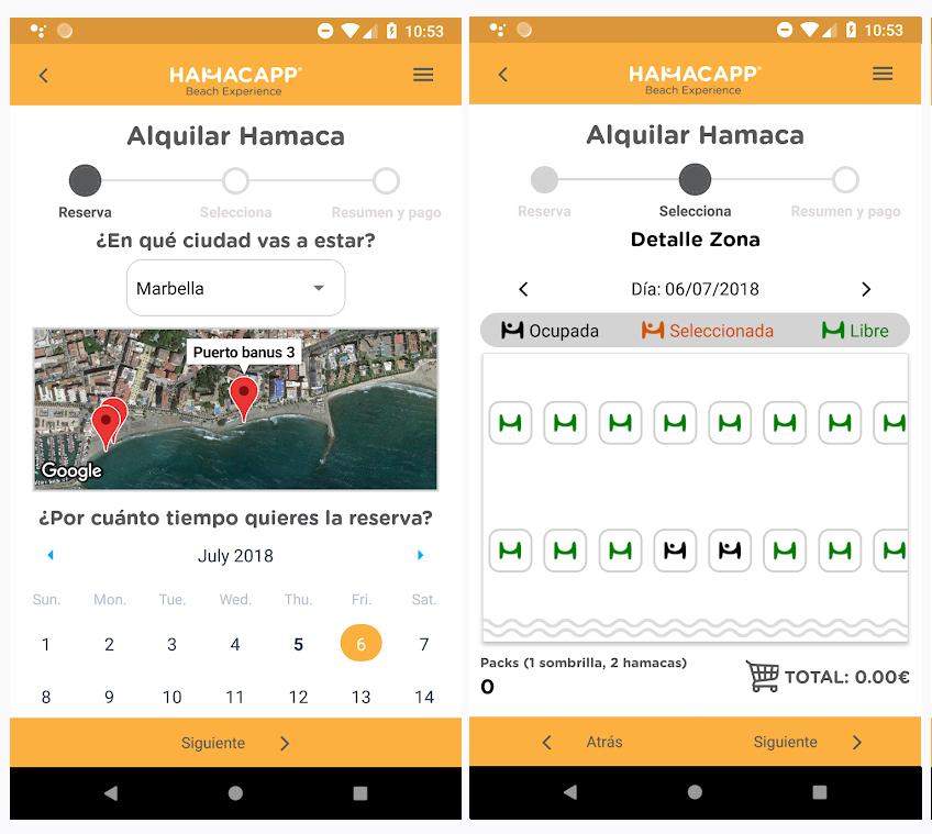 Hamacapp, la aplicación para controlar el aforo en las playas este verano