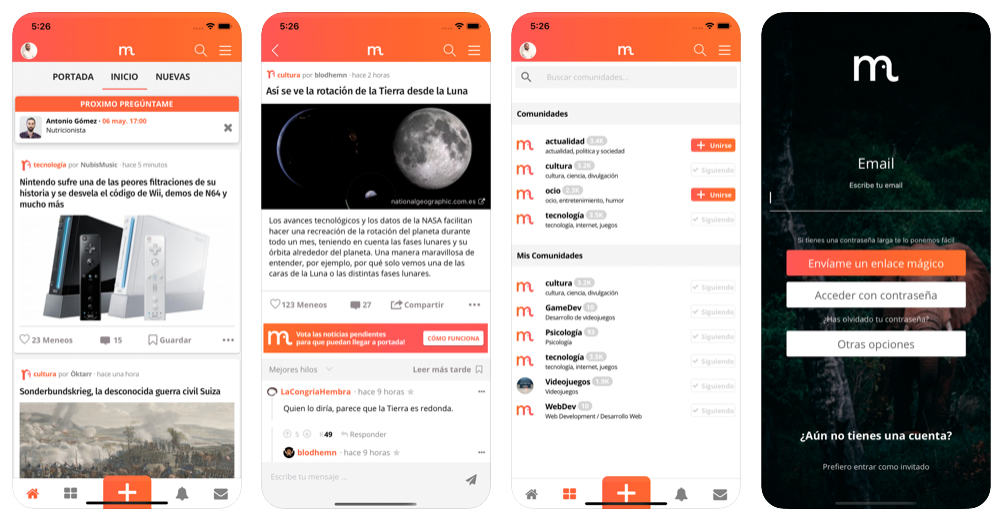 Menéame ya tiene app oficial para iOS y Android